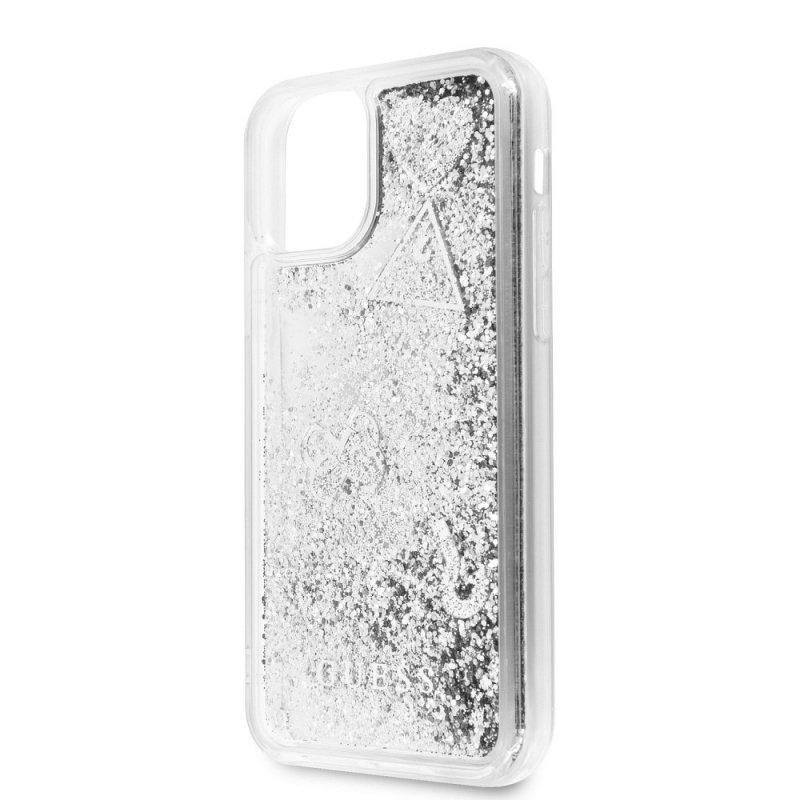 Oryginalne Etui GUESS Hardcase GUHCN58GLHFLSI do iPhone 11 Pro srebrny