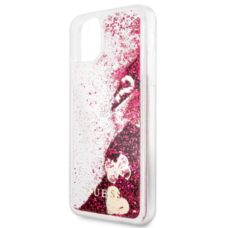 Oryginalne Etui GUESS Hardcase GUHCN65GLHFLRA do iPhone 11 Pro Max malinowy