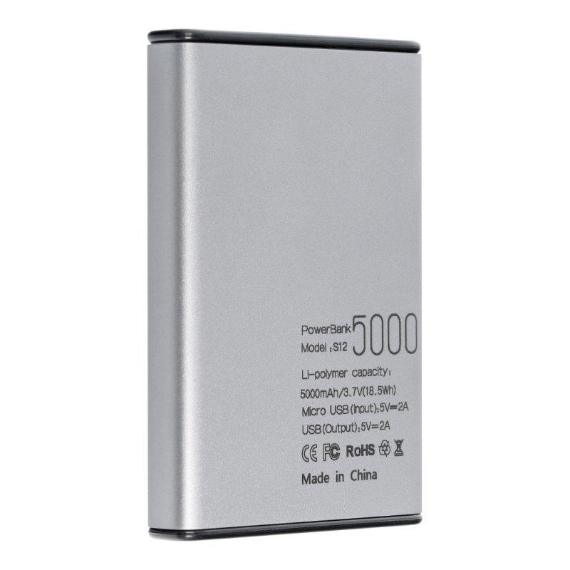 Bateria zewnętrzna (POWER BANK) PURIDEA S12 5000 mAh szary