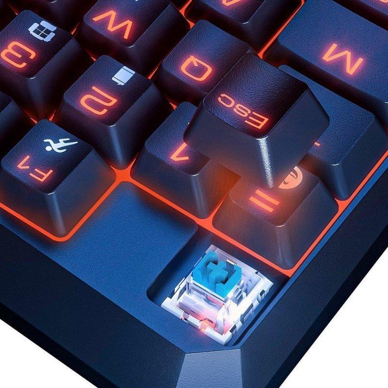 BASEUS klawiatura podświetlana mechaniczna dla graczy gamingowa GAMO One-Handed czarny GMGK01-01