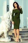 225-1 RAYA Sukienka z odkrytymi ramionami - KHAKI