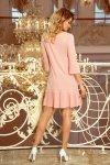 228-1 LUCY - plisowana wygodna sukienka - BRZOSKWINIA