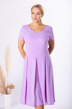 rozkloszowana sukienka z kontrafałdami