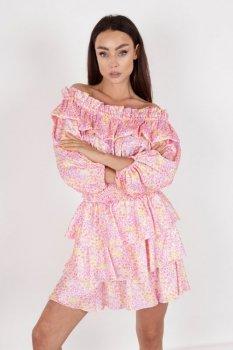 satynowa spódnica z printem