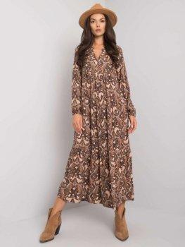 Sukienka-D73771M30225A-beżowy