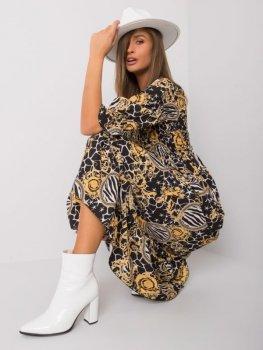 Sukienka-DHJ-SK-13965-1.61P-czarno-żółty