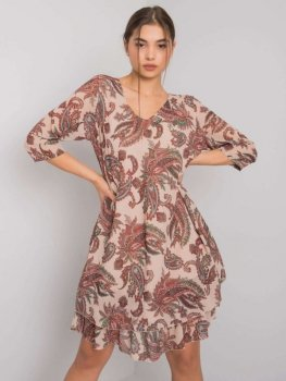 Sukienka-TW-SK-BI-2415.40P-beżowy
