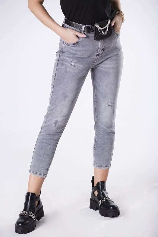 jeansy z saszetką