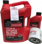 Filtr + olej Motorcraft 5W30 SYNTHETIC BLEND Ford Explorer 4,6