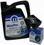 Oryginalny filtr oleju oraz olej MOPAR 10W30 Chrysler Pacifica 3,8