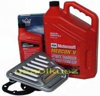 Filtr oraz syntetyczny olej Motorcraft MERCON V automatycznej skrzyni biegów Ford Freestar 2006