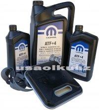 Olej MOPAR ATF+4 6,89l oraz filtr skrzyni 42RLE Jeep Grand Cherokee 1998-2004