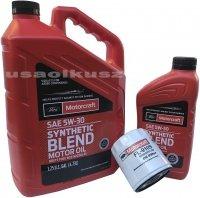 Oryginalny filtr oraz syntetyczny olej silnikowy Motorcraft 5W30 Lincoln MKT 2,0 EcoBoost