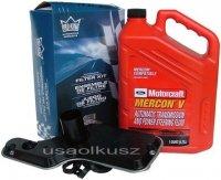Filtr oleju oraz syntetyczny olej Motorcraft MERCON V automatycznej skrzyni biegów 5R55 Ford Explorer