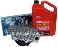 Syntetyczny olej Motorcraft MERCON V oraz filtr automatycznej skrzyni biegów A4LD Ford Bronco II 4x4