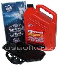Syntetyczny olej Motorcraft MERCON V oraz filtr automatycznej skrzyni biegów A4LD Mercury Mountaineer 4x4 -2001