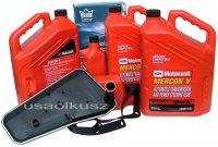 Filtr + olej Motorcraft Mercon V automatycznej skrzyni biegów Ford F150 - 350 RWD / 2x4