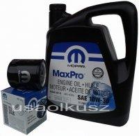 Oryginalny filtr oleju oraz olej MOPAR 10W30 Plymouth Voyager 2,0 / 2,4