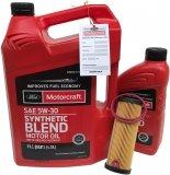 Filtr + olej Motorcraft 5W30 SYNTHETIC BLEND Ford Edge 2,7 V6