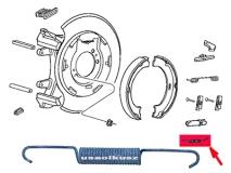 Sprężyna dolna szczęk hamulca postojowego Jeep Grand Cherokee 2005-2010