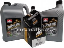 Filtr oraz syntetyczny olej 5W30 Cadillac Escalade 2007-