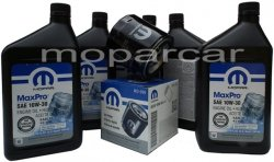 Filtr oraz olej MOPAR 10W30 Plymouth Voyager
