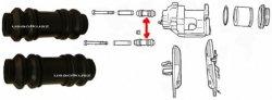 Osłonki prowadnic tylnego zacisku Jeep Commander