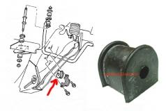 Guma stabilizatora tylnego Jeep Wrangler TJ