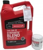 Filtr + olej silnikowy Motorcraft 5W20 SYNTHETIC BLEND Ford Fusion 2,3
