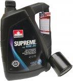 Filtr oleju oraz olej SUPREME 10W30 Chrysler Cirrus Stratus 2,0 / 2,4