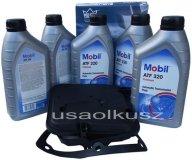 Półsyntetyczny olej MOBIL ATF320 oraz filtr oleju skrzyni biegów 4-spd Jeep Liberty