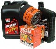 Filtr oleju FRAM PH16 oraz olej SUPREME 10W30 Chrysler Sebring V6