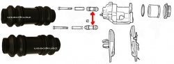 Osłonki prowadnic zacisku tylnego Chrysler PT Cruiser