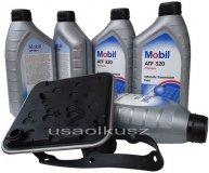 Filtr oraz olej skrzyni 4SPD Mobil ATF320 Chrysler LeBaron