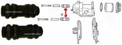 Osłonki prowadnic tylnego zacisku Jeep Grand Cherokee WK WH 2005-