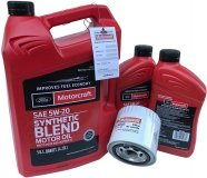 Filtr + olej silnikowy Motorcraft 5W20 SYNTHETIC BLEND Ford Expedition 2001-2014