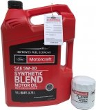 Filtr + olej Motorcraft 5W30 SYNTHETIC BLEND Ford Maverick 2,3 Duratec