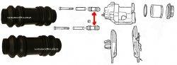 Osłonki prowadnic zacisku tylnego Dodge Stratus