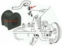Guma tuleja stabilizatora przedniego 25mm Jeep