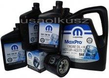 Oryginalny filtr oraz olej MOPAR 5W20 Dodge Challenger 5,7 V8