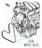 Pasek wspomagania oraz klimatyzacji Chrysler PT Cruiser 2,0 DOHC 16V
