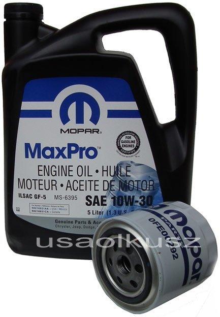 Filtr oleju MOPAR + olej MOPAR 10W30 Dodge Nitro 4,0 V6 -2008