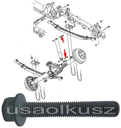 Śruba mocująca tylny amortyzator Dodge Dakota 2005-