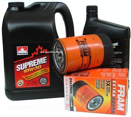 Filtr oleju oraz olej SUPREME 10W30 Pontiac Trans Sport 3,1 V6