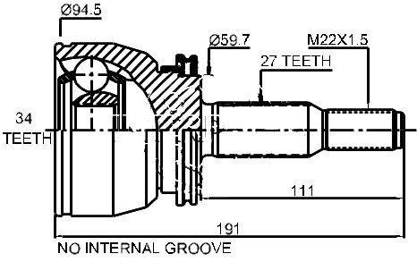 Zewnętrzny przegub napędowy Ford Explorer AWD 1995-2001