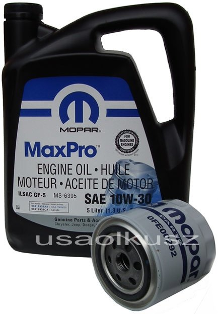 Filtr oleju + olej MOPAR 10W30 Dodge Dynasty
