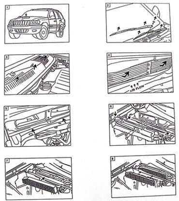 Filtr kabinowy przeciwpyłkowy Jeep Grand Cherokee 1999-2010