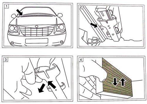 Filtr kabinowy przeciwpyłkowy węglowy Chrysler Pacifica