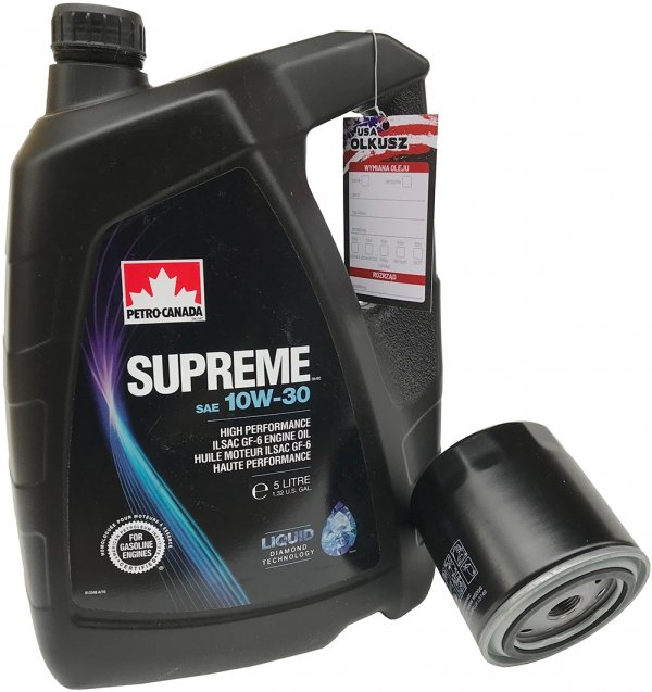 Filtr + olej SUPREME 10W30 Dodge Caravan