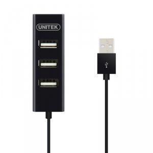Hub USB Unitek Y-2140 4x USB 2.0 mini czarny